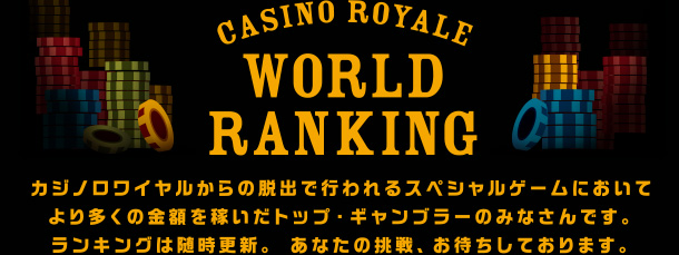 CASINO ROYALE WORLD RANKING