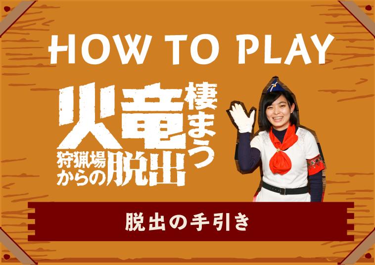 HOW TO PLAY 火竜棲まう狩猟場からの脱出 脱出の手引き